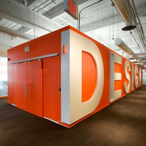 School of Design orange box